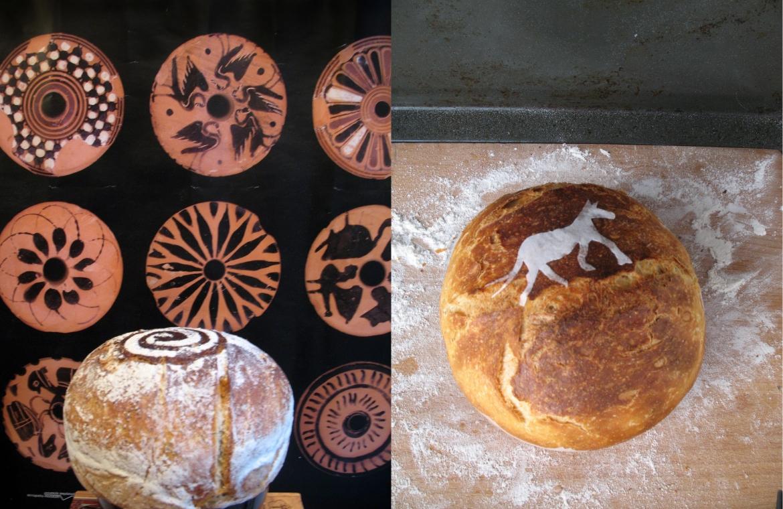 beeldgeschiedenis brood met paard